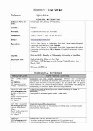 High School Resume Template Microsoft Word Fresh 22 Unique Free High ...