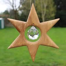 Fensterdeko Stern Aus Holz Mit Bleikristall