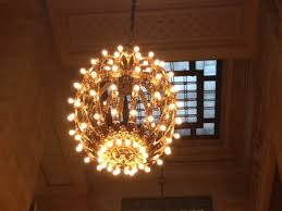 the light fixtures in grand central terminal are it s treasures these bare bulb chandeliers were the epitome of modern lighting when they were made