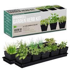 window garden kit 10 herbs indoor