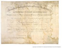 diploma of harvard s first african american up for auction 8 7 2014 12 37 15 pm