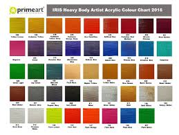 High Quality Painting Colours Chart 2019