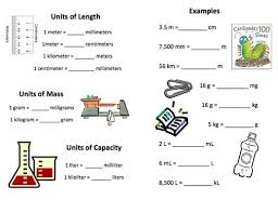 Measurement Unit Chart For Class 1 Yahoo Search Results
