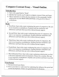 topic sentence examples for compare and contrast essay comparison contrast essay introduction sample example of comparing