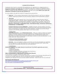 Career Objective Cv Psychology Graduate School Resume Examples Career Objective