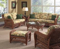 sunroom furniture set. brown wicker furniture lanai set for sunroom