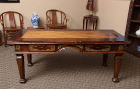 vintage teak furniture. A Large Dutch Colonial Style Vintage Teak And Burl Wood Desk From Java With  Geometrical Décor Furniture R