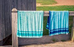 hanging beach towel. Hanging Beach Towels. Towels At Basin Head In PEI Royalty Free Stock Image Towel