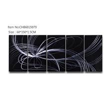 abstract black silver 3d handmade oil