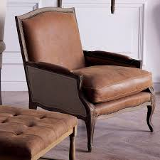 Brown Armchair Burford French Style Tobacco Leather Armchair Sale Oka