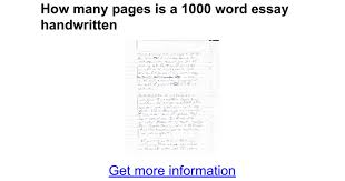 how many pages is a word essay handwritten google docs