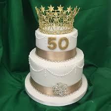 2 Tier 50th Birthday Cake M Rays Bakery