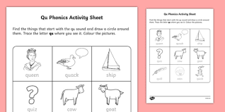 There are 5 sets for a total of 15 pages. Roi Qu Phonics Worksheet Worksheet Irish Worksheet