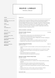 Education Section Of Resume Examples Material Handler Resume Templates 2019 Free Download