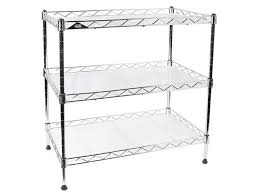 apollo hardware a 3ws0350c 3 tier wire shelving unit with shelf liner chrome