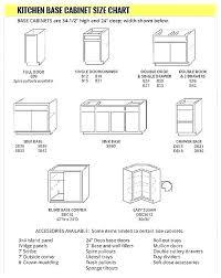 Standard Kitchen Cabinet Door Sizes Chart Dimensions General