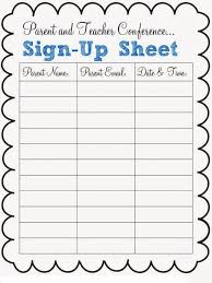 Pot Luck Sign Up Sheet Template Business
