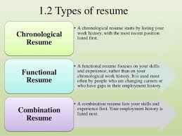 Functional Vs Chronological Resume Functional Resume Vs