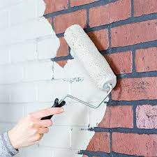 brick faux roll on a base coat of paint painting brick faux finish brick fireplace faux