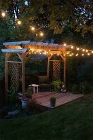 wooden pergola string lights win