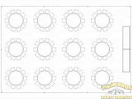 Round Table Seating Capacity 30x45 Frame Tent Layouts