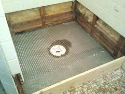 how to install shower pan on concrete floor replace shower pan photo of build shower pan