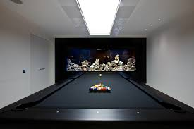 kitchen room pull table: cool pool tables family room contemporary with aquarium black pool table