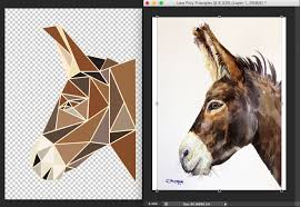 i made one of those low poly wall art pieces for my girlfriend s birthday she is really into burros for some reason so i hope she likes it  on how to create wall art in photoshop with i made one of those low poly wall art pieces for my girlfriend s