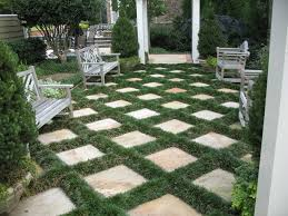 Flagstone Patio With Grass And Mondo Traditionallandscape I Design
