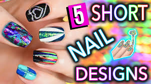5 Basic Nail Art Designs 5 Easy Nail Art Designs For Short Nails Holosexuals Part
