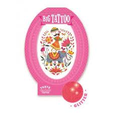 Velké Tetování Třpytivé Růžová Indie