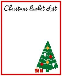 Blank Christmas List Christmas Bucket List Blank Printable Christmas To Do List