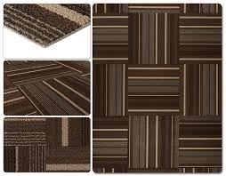 dante carpe ttile dark brown stripe