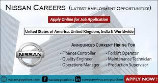apply for nissan job application