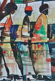 Small Picture Vote for Love Watercolor Print African American Art