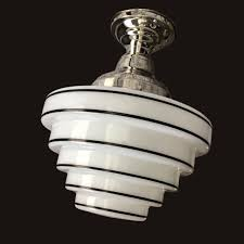 1930 s 1940 s milk glass skyser shade vintage art deco antique chandelier ceiling light fixture nickel