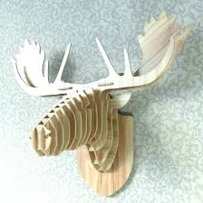 animal head wall mount wooden animal head wall mount white l heads wall decor resin deer animal head wall mount