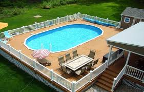 above ground pool with deck attached to house. Above Ground Pool Deck Plans Oval With Attached To House E
