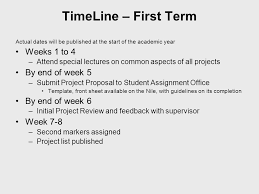 bsc computing honours project csy timeline project  3 timeline
