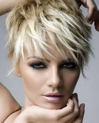 Layered Short Hair With Side Bangs