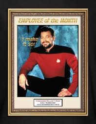 Emploee Of The Month Star Trek T Shirt Riker Employee Of The Month