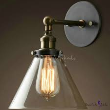 1 light vintage bronze led wall sconce with clear glass shade beautifulhalo com