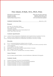 Academic Resume Format Free For Download New Academic Cv Template