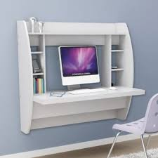 office floating desk small. White Floating Desk With Storage. This Office Furniture Is A Space Saving Solution For Any Home. Each Home Easy To Mount And Features Small R