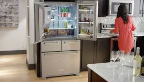 Kitchen Aid French Door Kitchenaid Counter Depth French Door Refrigerator Side With