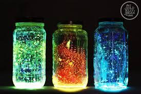 lighting jar. How To Make Colorful Glowing Mason Jar Lights Lighting