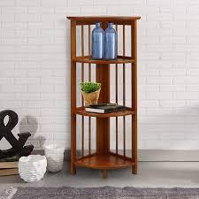 corner shelves furniture. Amazon.com: Casual Home 315-15 4-Shelf Corner Folding Bookcase, Honey Oak: Kitchen \u0026 Dining Shelves Furniture L