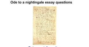 ode to a nightingale essay questions google docs