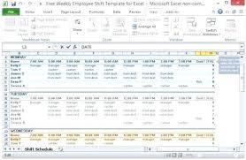 Shift Scheduling Excel Employee Scheduling Calendar Template Excel Work Schedule Shift