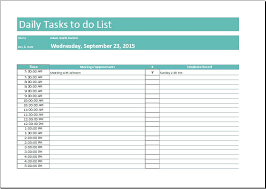 Daily To Do List Template Image Collections - Template Design Ideas